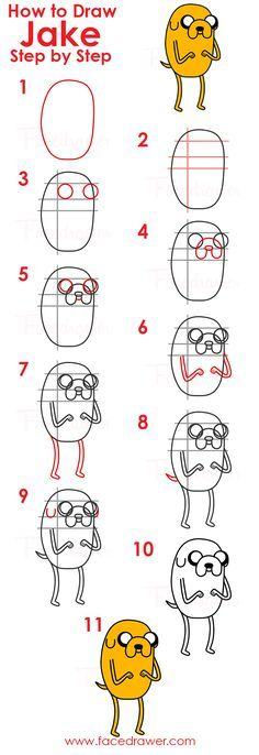 Do you like Jake? Learn how to draw Jake from Adventure Time easy. Follow along the 11 easy steps and learn how to draw Jake.