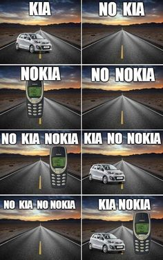Ill take the kia Car Jokes, Funny Video Memes, Stupid Funny Memes, Funny Puns, Funny Relatable Memes, Funny Games, Nokia Meme, Best Funny Pictures, Funny Photos
