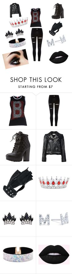 """""""goth queen"""" by vyesica-yv on Polyvore featuring Bikkembergs, River Island, Charlotte Russe, Yves Saint Laurent, Wilsons Leather, Fallon, Belk Silverworks and Forever 21"""