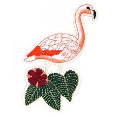 € 3,95 Patch - Strijkplaatje Flamingo Wit