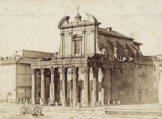 Foro Romano - Tempio di Antonino e Faustina 1858