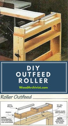DIY Outfeed Roller - Workshop Solutions Plans, Tips and Tricks | WoodArchivist.com