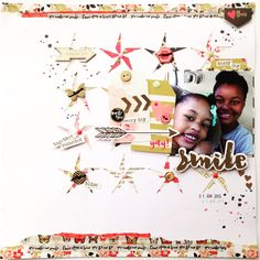 Smile layout using my minds eye my story collection!