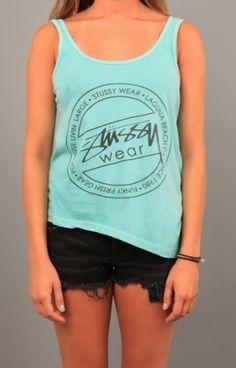Stussy Wear Asymmetric Tank Use Code STASH20 for 20% OFF #clothing #apparel #teeshirt #tank #tops #Stussy