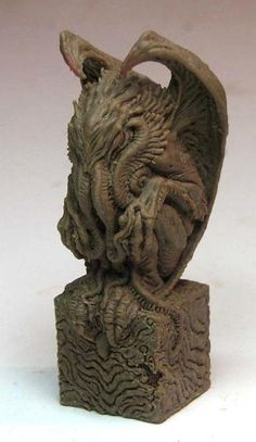 """Cthulhu miniature Sculpt of a playing piece for the game,""""The Doom That Came to Atlantic City""""."""