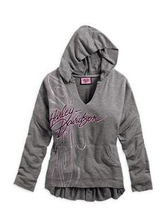 Harley-Davidson® Women's Pink Label Pullover Hoodie 96224-14VW