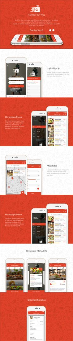 Grab For You is an easy way of free ordering for delivery or pickup from more than 28,000 restaurants in Thailand. Search by current location, Browse any restaurant, Order your Favourite Food and Get Started!!