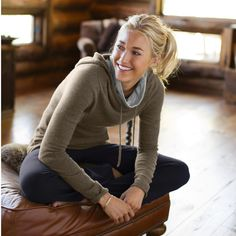 Dear Stylist, This would be awesome for pre and post yoga workouts! Cashmere Hatha Hoodie