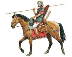 A cavalryman, holding his spear