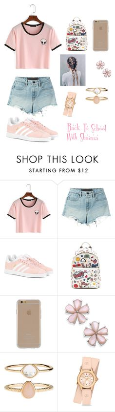 """""""Back to School outfit"""" by queenshaima ❤ liked on Polyvore featuring T By Alexander Wang, adidas Originals, Anya Hindmarch, Agent 18, Accessorize and Michele"""