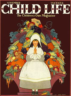 Thanksgiving-themed cover, Child Life magazine