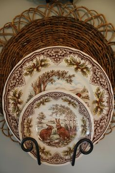 LOVE the basket behind the transferware Woodland Harvest by The Victorian English Pottery, Est 1819 by Edward Challinor. Vintage Dishes, Vintage China, Vintage Plates, Antique Dishes, Brenda Torres, Woodlands Cottage, English Pottery, China Patterns, Kitsch