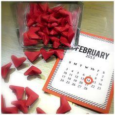 Coeurs origami pour mon Valentin
