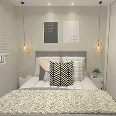Home Decoration Inspiration Code: 9395226536 Grey Bedroom Decor, Master Bedroom Design, Bedroom Furniture, Home Room Design, Dream Home Design, Diy Apartment Decor, Bedroom Layouts, Home Decor Inspiration, Decoration
