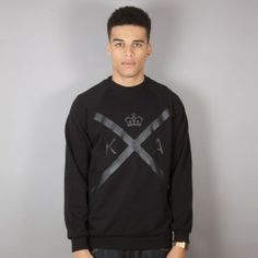 KING APPAREL INSIGNIA CREW BLACK Graphic Sweatshirt, T Shirt, King, Sweatshirts, Long Sleeve, Sleeves, Mens Tops, Ootd, Black