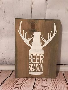 Classy Country Creations creates custom wooden signs for that perfect personalized addition to your home decor. All of our signs are hand painted and lightly distressed for that perfect rustic look. Each sign is equipped with saw tooth hooks for easy hanging. Pine wood, hand painted, hand constructed sign  Beer Season Stained wood.  Handpainted lettering.  If you want a smaller sign, message me.  **** MEASUREMENTS **** This sign measures 9 wide by 13 high.   **** HOW TO ORDER **** 1. Click…