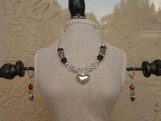 My family birthstone necklace & earrings to match my bracelet from The Beading Heart @ facebook