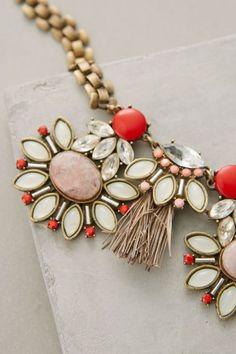 Tasseled Gems Necklace - anthropologie.com #anthrofave