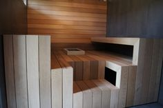 custom-_saunan_lauteet Saunas, Finnish Sauna, Home And Living, Sauna Ideas, Interior Design, Bathroom, Roof Top, Ph, Wellness
