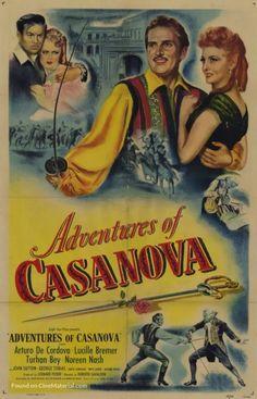 Adventures Of Casanova - Arturo de Cordova DVD The Image Movie, Streaming Movies, Film, Adventure, Black And White, Movie Posters, Hindi Movies, Box Office, Disney Pixar