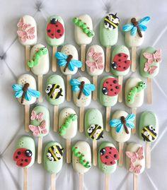 Cakepops, Cupcake Cookies, Yummy Cupcakes, Gelato Cake, Paletas Chocolate, Magnum Paleta, Garden Party Cakes, Easter Cake Pops, Bug Cake