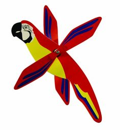 WindNSun WhirlyGig Outdoor Animated Decor Macaw -- You can get more details by clicking on the image. (Note:Amazon affiliate link)