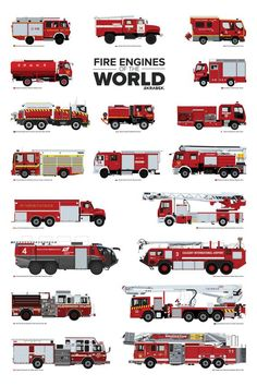 Fire Engines of the World - Auto X Firefighter Paramedic, Firefighter Decor, Volunteer Firefighter, Firefighter Workout, Firefighter Training, Firefighter Equipment, Firefighter Tools, Fire Equipment, Garage Organization