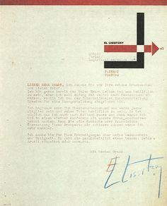 letter head, El Lissitzky