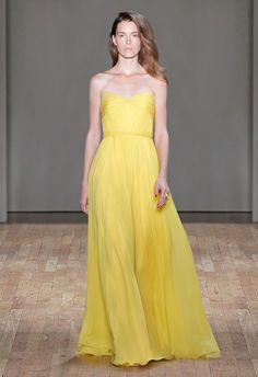 Jenny Packham Spring 2017 Rtw Yellow Is A Tricky Color To Wear And This