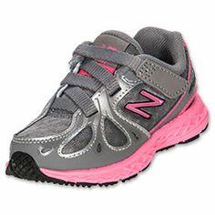 Girls' Toddler New Balance 890 Running Shoes| FinishLine.com | Grey/Pink