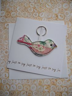Just to say card with a machine and hand by maxollieandme on Etsy, £6.00