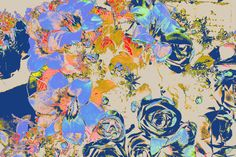 """Didier Cordy, """"Floral optimistic composition ..."""" 02  on ArtStack #didier-cordy #art"""