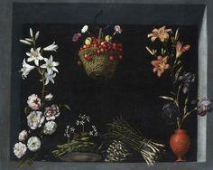 Sánchez Cotán, Juan. Bodegón con flores, hortalizas y un cesto de cerezas, la última obra localizada del maestro.