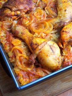Szefowa w swojej kuchni. ;-): Kurczak pieczony na ryżu B Food, Good Food, Yummy Food, Healthy Dishes, Healthy Eating, Healthy Recipes, Crockpot Recipes, Chicken Recipes, Cooking Recipes
