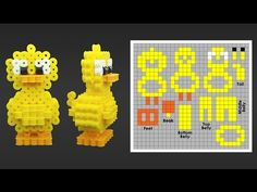 Super Cute 3D duck Perler Bead Pattern. Laceys Crafts is all about sharing super simple and adorable crafts for kids. Enjoy!