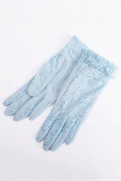 Sequin Embellished Lace Gloves - OASAP.com