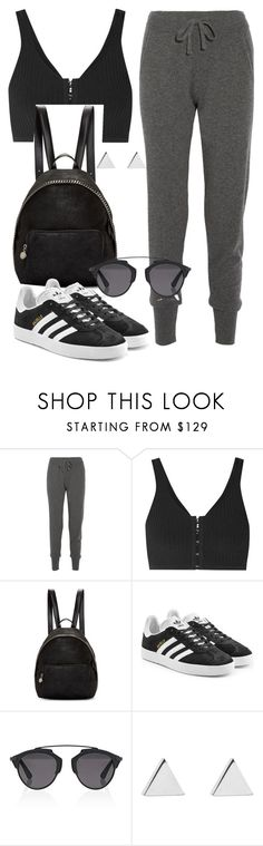 """""""Untitled #469"""" by bitsofstyle ❤ liked on Polyvore featuring Calvin Klein Collection, T By Alexander Wang, STELLA McCARTNEY, adidas Originals, Christian Dior and Jennifer Meyer Jewelry"""