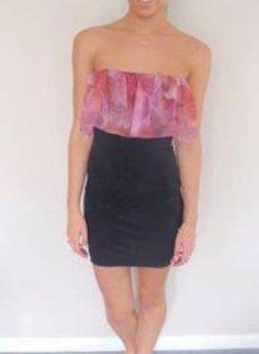 Black Little Black Dress - Little Strapless Black Dress  http://www.ustrendy.com/store/product/96463/little-strapless-black-dress-with-pink-top-overlay