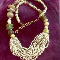 "Spotted while shopping on Poshmark: ""lavish beads! greens, creams, neutrals.""! #poshmark #fashion #shopping #style #Jewelry"