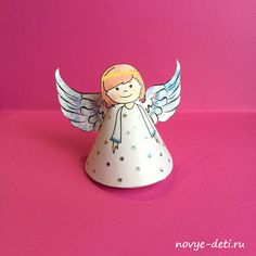 рождественский ангел из бумаги поделки на рождество и новый год