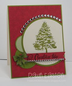 Christmas card by Dawn Easton using the O Christmas Tree set from Verve Stamps.  #vervestamps
