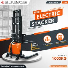 Shigemitsu Semi-Electric Stacker Kapasitas 1000 Kg #indotara #ptindotarapersada #indotarapersada #ptindotara #shigemitsu #manualstacker #handpallet #handlift #electricstacker #handstacker #semielectricstacker #electricstackers #heavyduty #handlingequipment #warehouseequipment #warehouseequipments #electricstackerjakarta #electricstacker #electricstackerbandung #electricstackersurabaya #electricstackermedan #electricstackersemarang Warehouse Equipment, Strong Body, Medan, Surabaya
