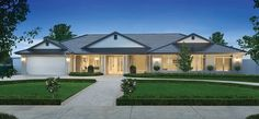 Porter Davis Homes - House Design: Hillside Best House Plans, Dream House Plans, House Floor Plans, 4 Bedroom House Designs, Bedroom House Plans, Hamptons Style Homes, Hamptons House, Bungalow Homes, Ranch Style Homes