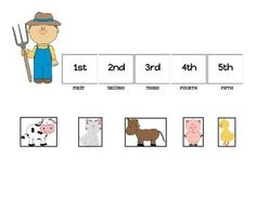 Cute out each animal and use this mat as an ordinal numbers small group activity. Instruct students what position to put each animal in and have them name the positions first - fifth.