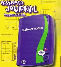 password journal!