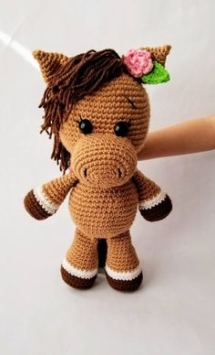 CROCHET PATTERN for Pretty Crochet Horse, Pretty Pony Crochet Pattern. Instant PDF Pattern Download #crochet #crochetpattern #affiliate