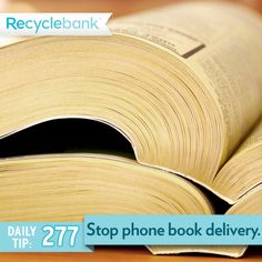 Stop phone book delivery.