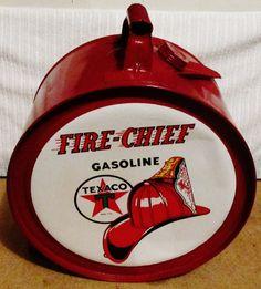 TEXACO FIRE-CHIEF Rocker Oil Can, circa 1950's