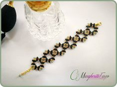 How to make Creta bracelet. Step by step pdf tutorial with Tinos bead , swarovski ans seed beads. Bead pattern