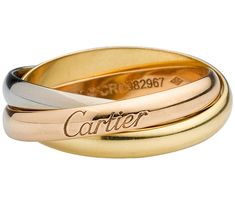 Ordered From Jean Cocteau in 1924: Bague Trinity de Cartier en 3 ors, a master piece which remains one of the most romantic design